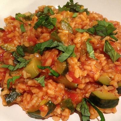 Tomaten-Zucchini-Risotto (Vegetarisch)