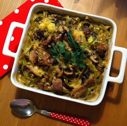 Grüner Nudel-Filet-Topf