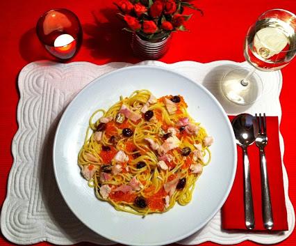 spaghettini mit kurkuma sahnecreme und cranberries was koche ich heute. Black Bedroom Furniture Sets. Home Design Ideas