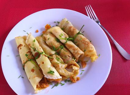 Crêpes mit Fischstäbchen