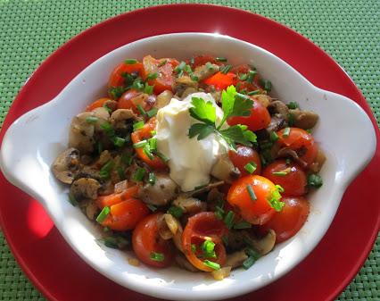 Champignon-Tomaten-Pfanne