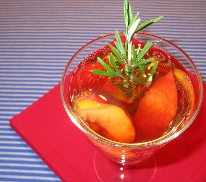 Rosé-Pfirsich-Cocktail