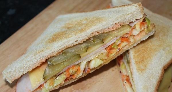 American Coleslaw Sandwich