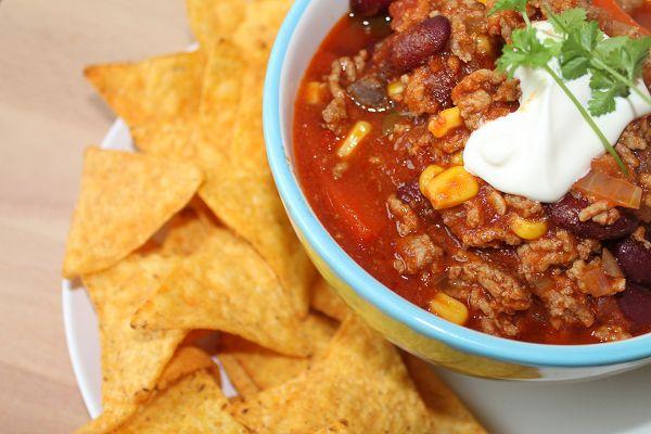 Chili con Carne mit Mais & Kidneybohnen