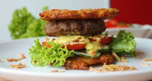 Kartoffelburger mit dänischer Remouladensoße