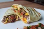 Beef Burritos with Tomato Salsa