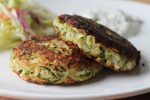 Zucchini Patties with Tzatziki