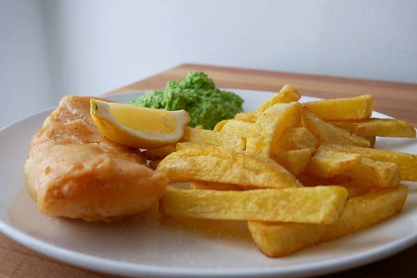 Fish & Chips mit Mushy Peas