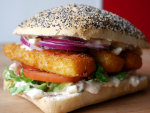 Fish Sticks Burger with Remoulade