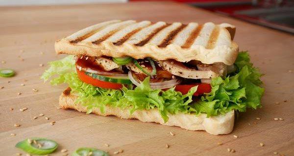 Chicken Teriyaki Toast Sandwich